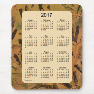 2017 Holiday Artwork Calendar by Janz Mouse Pad