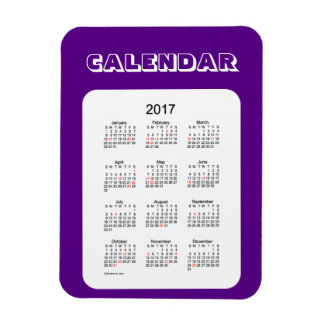 2017 Indigo Holiday Calendar by Janz 3x4 Magnet