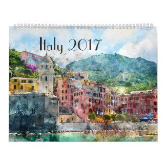 2017 Italy Art Watercolor Calendar