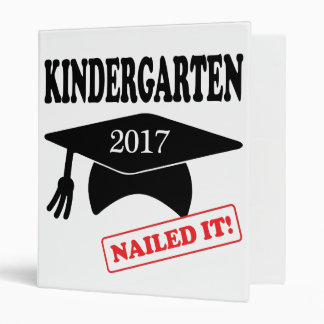 2017 Kindergarten Nailed It Binder