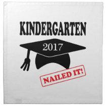 2017 Kindergarten Nailed It Cloth Napkin
