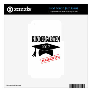 2017 Kindergarten Nailed It iPod Touch 4G Decal