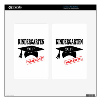 2017 Kindergarten Nailed It Kindle Fire Decal