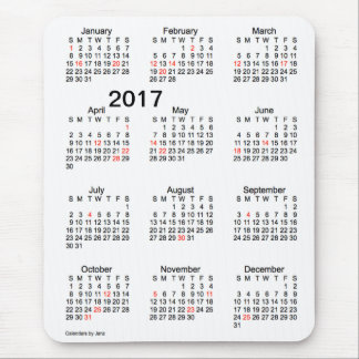 2017 Large Print Holiday Calendar by Janz Mousepad