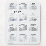 2017 Large Print Smoke Holiday Calendar by Janz Mouse Pad