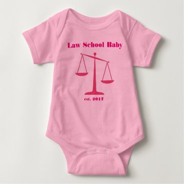 Halloween Themed 2017 Law School Baby Romper (Pink Ink)
