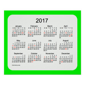 2017 Lime Wall Calendar by Janz Print
