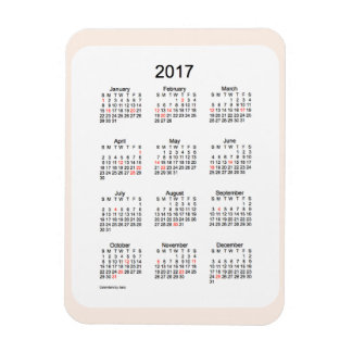 2017 Linen Holiday Calendar by Janz 3x4 Magnet