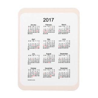 2017 Linen Holiday Calendar by Janz 3x4 Magnet