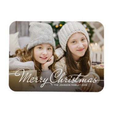 Professional Business 2017 Merry Christmas Photo Refrigerator Holiday Magnet