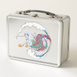 "2017 Mink Chef Hippicorn Metal Lunch Box<br><div class=""desc"">This unique design celebrates the mythical Hippocampus combined with the magical Unicorn, creating a wholly new creature in vivid, tropical color to inspire your imagination and splash through your dreams! I&#39;m a professional artist specializing in all things equine, focusing most in realism but I also dive into fun designs like...</div>"