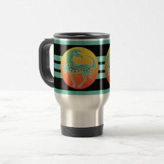 2017 Mink Mug Runequine Checkers Travel mug