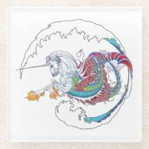 2017 Mink Nest Hippicorn Glass Coaster 3