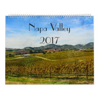 2017 Napa Valley California Wine Watercolor Calendar