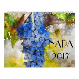 2017 Napa Valley Wine Art Watercolor Calendar