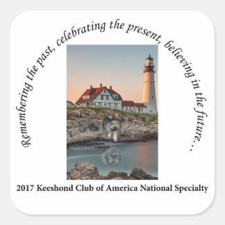 2017 National Logo Option #1 Square Sticker