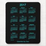 2017 Neon Blue Calendar by Janz Mouse Pad