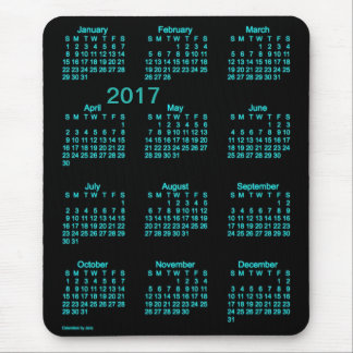 2017 Neon Blue Large Print Calendar by Janz Mouse Pad