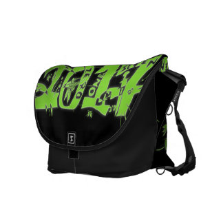 2017 neon green messenger bag