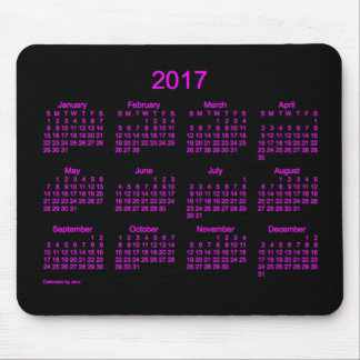 2017 Neon Pink Calendar by Janz Mouse Pad