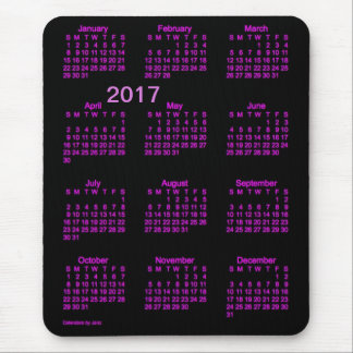 2017 Neon Pink Large Print Calendar by Janz Mouse Pad