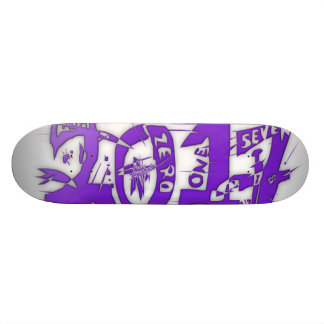 2017 neon purple skateboard deck