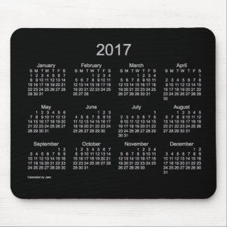 2017 Neon Silver Calendar by Janz Mouse Pad