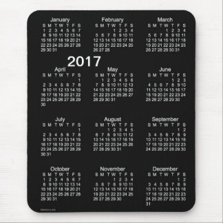 2017 Neon White Large Print Calendar by Janz Mouse Pad