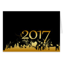 2017 New Year's Graphic Card