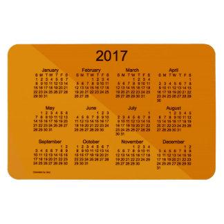 2017 Orange Angle Art Calendar by Janz 4x6 Magnet