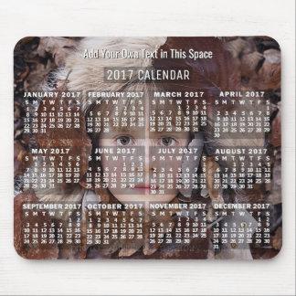 2017 personalizado mensual del blanco | del tapete de raton