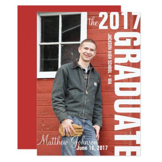 2017 photo graduation announcement template zazzle 2017 photo graduation announcement template maxwellsz