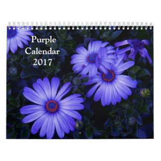 2017 Purple Calendar