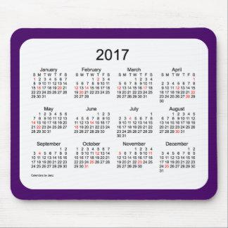 2017 Purple Holiday Calendar by Janz Mousepad