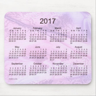 2017 Purple Silk Calendar by Janz Mouse Pad