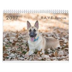 2017 R.a.v.e. Rescue Calendar at Zazzle
