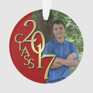2017 Red and Gold Graduation Photo Ornament