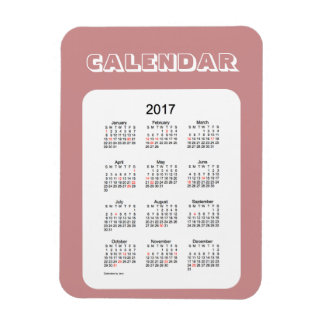 2017 Rosey Brown Holiday Calendar by Janz Magnet