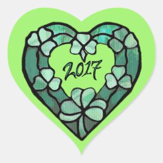 2017 Shamrock Heart Sticker
