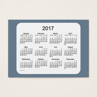 2017 Slate Gray Calendar by Janz Business Card
