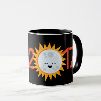 2017 Smiley Emoji Moon Total Solar Eclipse Mug