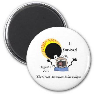 2017 Solar Eclipse Survival Edition Magnet