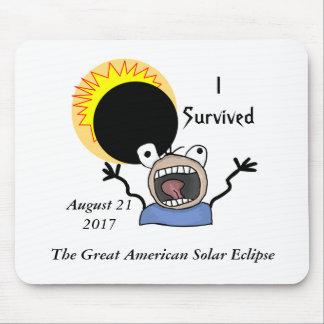 2017 Solar Eclipse Survival Edition Mouse Pad