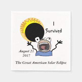 2017 Solar Eclipse Survival Edition Napkin