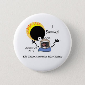 2017 Solar Eclipse Survival Edition Pinback Button