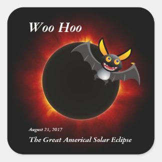 2017 Solar Eclipse, Vampire Edition Square Sticker