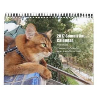 2017 Somali Cat featuring Summer Samba Calendar