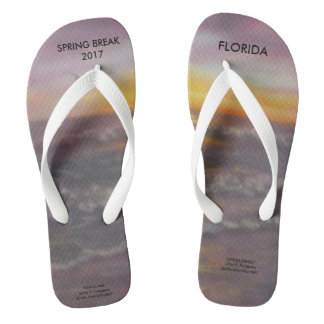 2017 SPRING BREAK OCEAN SUNSET FLIP FLOPS