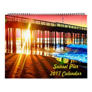 2017 Sunset Pier Wall Calendar