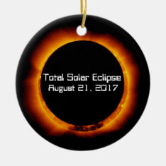 2017 Total Solar Eclipse Ceramic Ornament at Zazzle